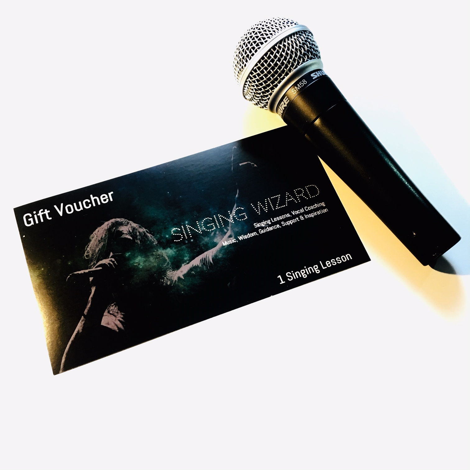 Singing Gift Voucher and Microphone