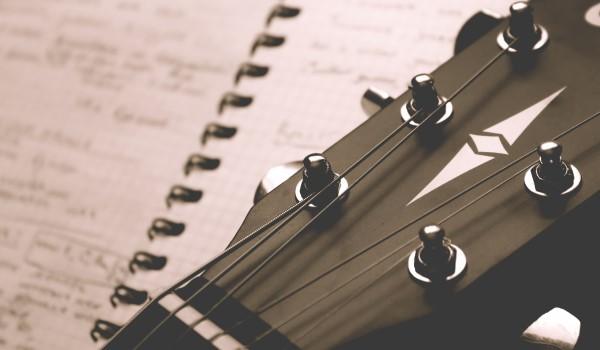 Guitar Head and lyric notebook